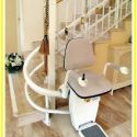 Curved custom Acorn indoor stair lift